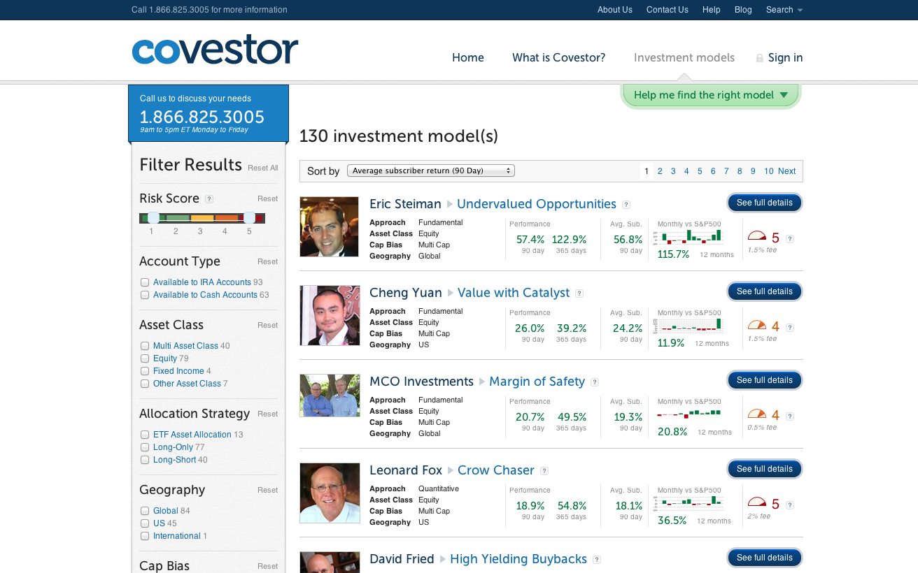 covestor-investing-portfolio-models